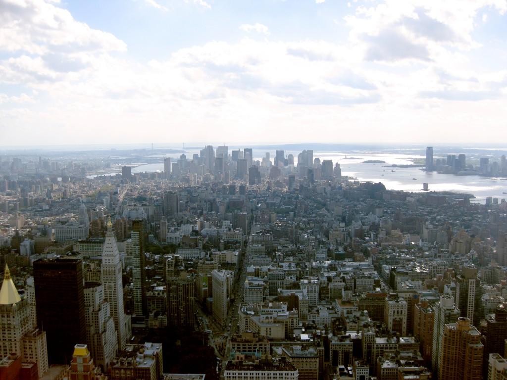 Manhattan New York vom Empire State Building aus gesehen